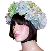 1960's Floral Chapeau by Betmar for B.Altman & Co.