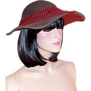 Mr. Walter-Gray, Black, & Red Ingeniously Designed Picture Hat