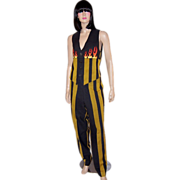 Armand Basi-Juste de Nin-Black and Gold Striped Pant Suit