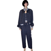 Apriori-Germany-Stunning Gray & Navy Three-Piece Ensemble