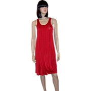 Jean Paul Gaultier for Target-Cherry Red Shift Dress with Draping Elements