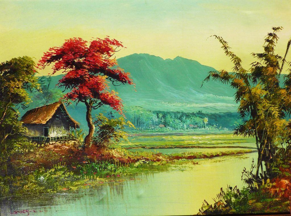Asian oil canvas