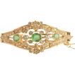 Emerald & Diamond Bracelet; Belle �poque 14K Rose Gold