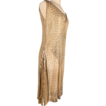 1920's Assuit & Gold Lame Layered Dress *Great Sz