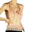 1930's Pink Silk Camisole *Incredible Lace Applique Sz Med