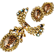 Masterpiece Brooch & Earrings Demi *Austrian ca 1960s