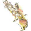 1941 CORO Gene Verrecchio Cockatoo Brooch *Superb