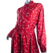 1940's Rayon Smoking Cigarette Dress *Fab Red *Great Size