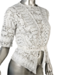 Exceptional Antique White Mixed Lace *Eyelet Blouse