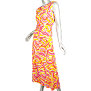 Christian Dior Paris *4 pc Jersey Psychedelic  Ensemble *ca 1968