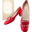 Christian Dior *Ca 1958 Red Satin Shoes  *No 463487