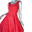 "1950's Red  'Parachute' Taffeta Dress *36""B 27""W"