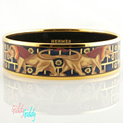 SOLD Hermes Paris Enamel Bracelet *Egyptian Revival *Like New