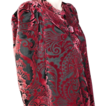 House of Worth Silk Velvet Devor� Coat *1950's *Numbered 2250