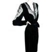 1930's Beaded Black Velvet Gown *Great Sz