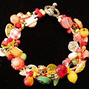 "Handcrafted Button Bracelet "" Shake Your Maracas!"""