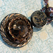 "Handcrafted Button Pendant Necklace  ""Warm Embrace"""