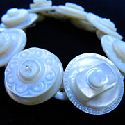 "Handcrafted Mother of Pearl Button Bracelet ""Shell We Dance"""