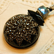 "Handcrafted Button Pendant Necklace ""When You Wish"""