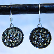 Victorian Metal Button Earrings