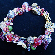 Tuscan Inspired Button Bracelet   &quot;Tuscan Tapestry&quot;