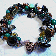 Woodsy Themed Button Bracelet    &quot;Forest I Know&quot;