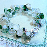 "Handcrafted Button Bracelet "" Spring Forward"""