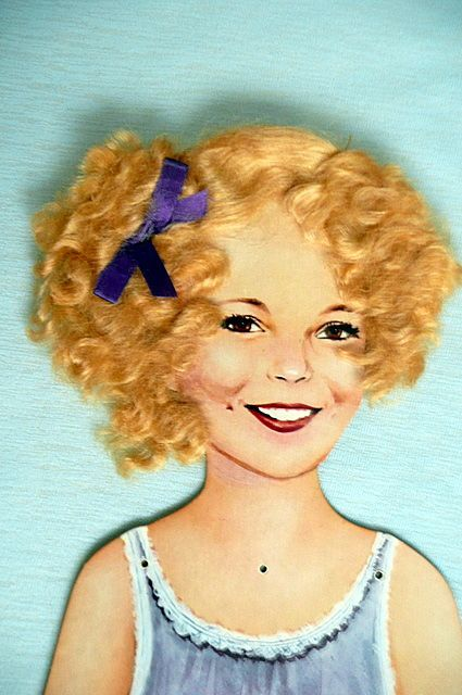Vintage Shirley Temple Paper Doll
