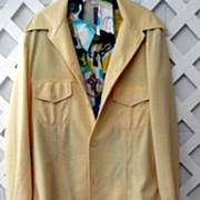 1960's Polyester Leisure Suit and Accessories