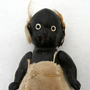 Tiny Black Bisque Doll