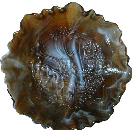 Imperial Glass Slag Glass Bowl
