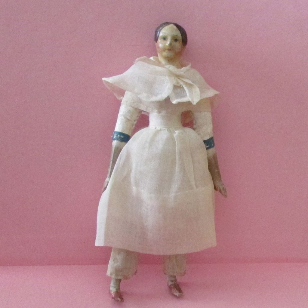 "6"" Papier Mache Milliner's Model Doll with Bun"