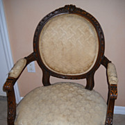 Louis XVI Open Arm Chair C 1920