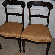 Pair of Mahogany Victorian Side Chairs