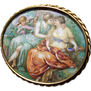 SALE Limoges Portrait Plaque