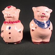"SALE Shawnee Pottery ""Smiley and Winnie Pig"" Salt and Pepper Shakers"