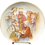 "Holy Family with Wise Men in Raised Relief by ""Homco"" #5259"