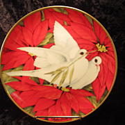 &quot;Christmas Doves&quot; Plate by Maureen Jensen, 1990