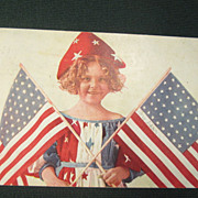 4th of July -Child with American Flags