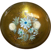"SALE Sacha Brastoff Enamel on Copper 8 1/4"" Bowl on Pedestal"