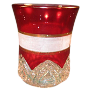 SALE Heart Band Tumbler with Frosted and Gold Bands 1897