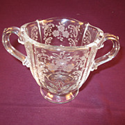 "Fostoria ""Meadow Rose"" Sugar Bowl"