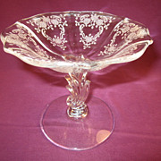 Fostoria &quot;Meadow Rose&quot; Compote