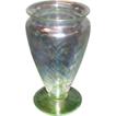 "Hocking ""Spiral"" Footed Vase"
