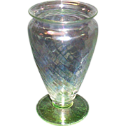 "SALE Hocking ""Spiral"" Footed Vase"