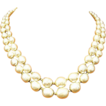 Miriam Haskell Simulated Pearl Necklace, double strand
