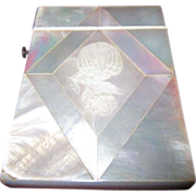 SALE Vintage Mother of Pearl Visiting Card Case