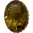 30 Carat Lemon Citrine in 14 K Gold Ring size 11