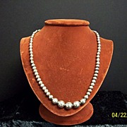 SALE Sterling Silver Beaded Necklace