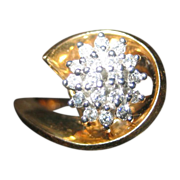 SALE 14 Karat Gold and Diamond Ring